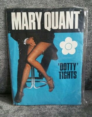 Vintage Mary Quant tights Peach Dotty     Brand new never worn