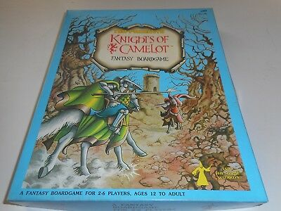1980 Tsr Knights Of Camelot Rpg Role Playing Board Game Complete/unused