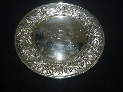 """S. Kirk & Son 127F Sterling Repousse Butter/bread Plate 6-1/4"""""""