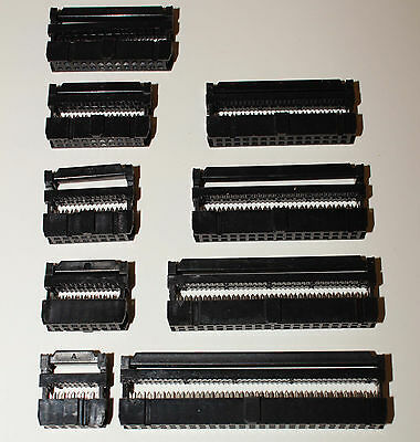 IDC Female Connectors - TRAY of 8, 10, 14, 16, 26, 30, 40, or 50 pin