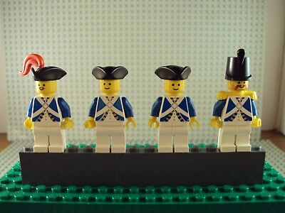 Lego Minifig ~ Lot Of 4 Imperial Armada Soldiers ~ Vintage Authentic Blue Coat