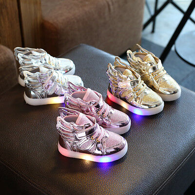 New Children Led Sneakers Kids Boys Girls Light Up Luminous Shoes Trainers Shoes