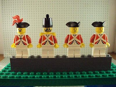 Lego Minifig ~ Lot Of 4 Imperial Soldiers ~ Vintage Authentic Red Coat Pirate