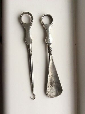Crisford And Norris Silver Button Hook/ Shoe Horn- 1909?