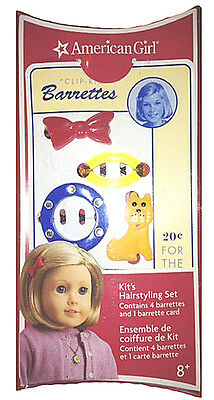 "American Girl KIT'S HAIRSTYLING SET for 18"" Dolls Barrette Clip Kit Pin NEW"