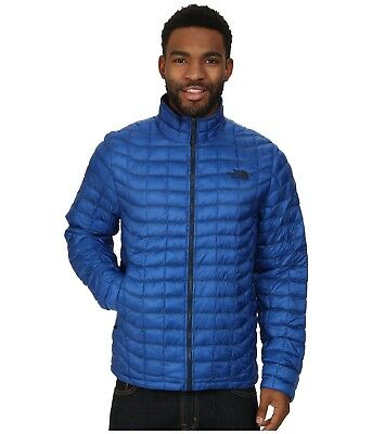 The North Face Mens Thermoball Jacket Full Zip Insulated Blue Black Size S L New