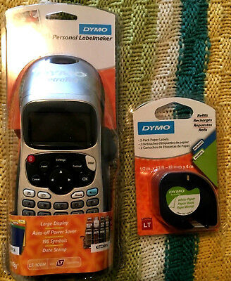 DYMO Letratag LT-100H Personal Hand-Held Label Maker (1749027) New Free Shipping