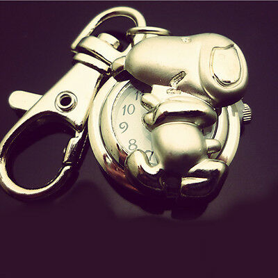 DBS Dog Cartoon Character Key Ring Pocket Watch Quartz Montres Gift (NO BOX)