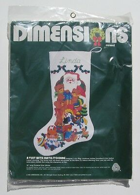 Christmas Stocking Crewel Stitch Kit Dimensions 8043 Lucy Rigg Visit With Santa