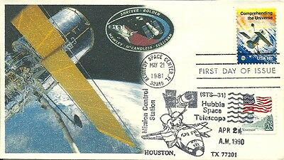 Space Shuttle Sts-31 Hubble Space Telescope Mission, Hubble Stamp Fdc 5/21/198