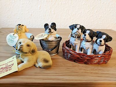 Regency Fine Arts Bundle of Dog Figurines Hidamel Dogs Figure Model Collectable