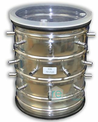 Freeze Dryer / Lyophilizer Stainless Steel 24-Port Manifold w/ Lid