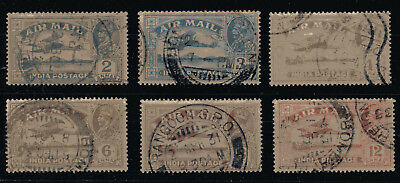 India 1929 Kg V Air Mail Set Fine Used Sg 220 - 225