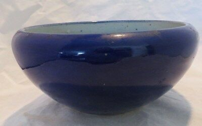 Antique Cobalt Blue Porcelain Ceramic Bowl Maybe Chinese