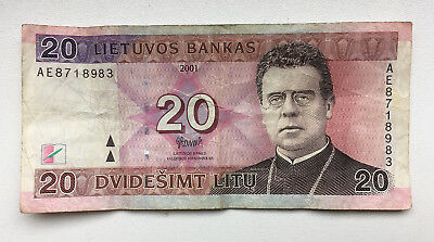 Lithuania Paper Money 20 Litu 2001