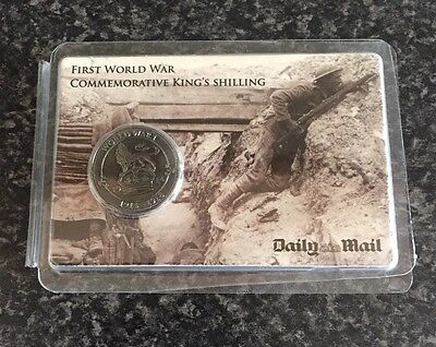 First World War Ww1 Commemorative King Shilling By The Daily Mail