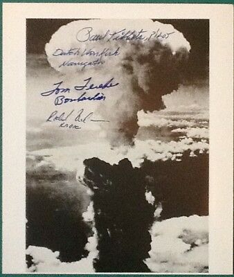 Enola Gay Hiroshima Signed 8x10 Photo - Paul Tibbets, Van Kirk, Ferebee & Nelson