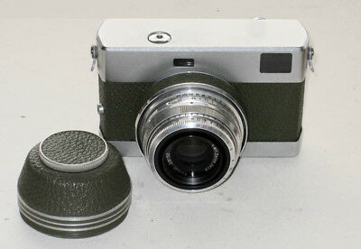 EXC Vintage CZ Jena RF camera WERRA 3 (green) with Tessar 2.8/50mm