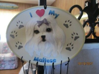 Maltese Puppy Dog Windchime
