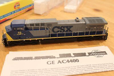 CSX Railway Athearn RTR AC4400 #49 DCC Quick-Plug Equipped in HO Scale