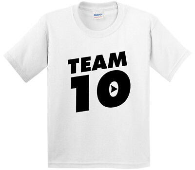 New Way 784 - Youth T-Shirt Team 10 Ten #Team10 Jake Paul