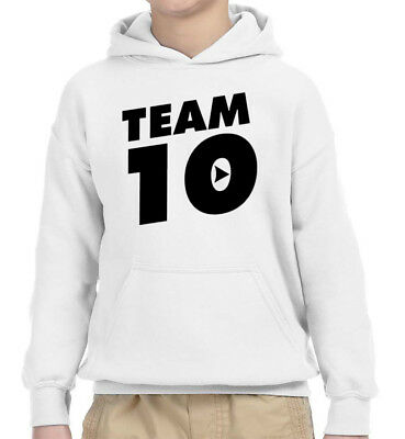 New Way 784 - Youth Hoodie Team 10 Ten #Team10 Jake Paul