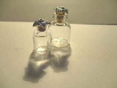 2 Dolls House Miniature Glass Decanters