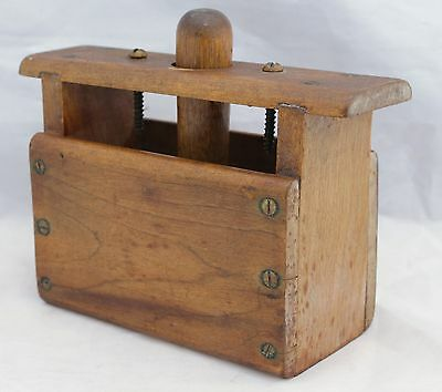 Antique Wood Butter Press/Mold With Brass Screws