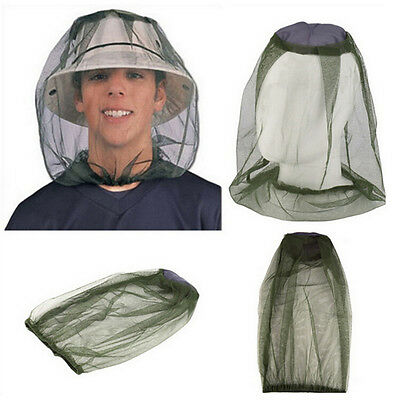 Mosquito Mosi Insect Midge Bug Mesh Head Net Face Protector Travel Camping Fy
