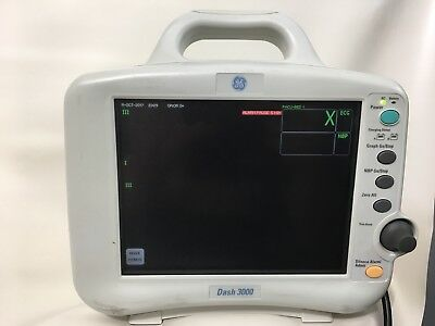 GE Dash 3000 Patient Monitoring SpO2 temp ECG NBP