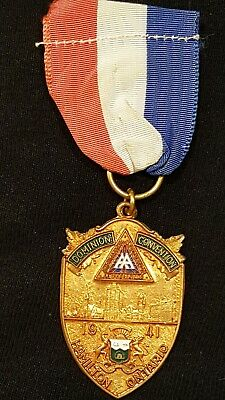 war amps dominion convention medal 1941 Hamilton ontario wwi  wwii