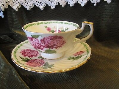 Royal Kendal China Cup And Saucer -Flower Of The Month Chrysanthemum