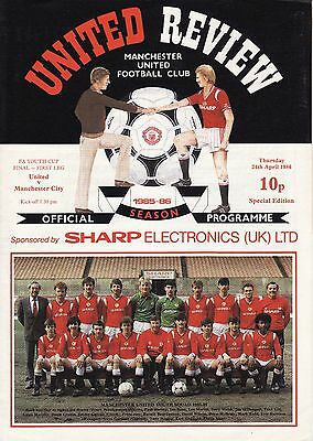1985/86 Manchester United  v Manchester City FA Youth Cup Final 1st Leg