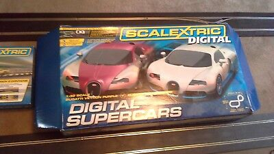 Boxed as good slightly used Digital Scalextric Supercars, Buccati cars