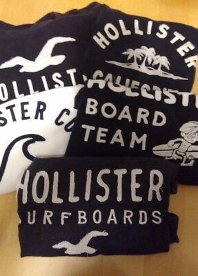 Mens/Boys Small Hollister T Shirts Bundle of 5 Used but nice condition.  Genuine