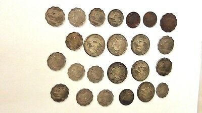 Vintage Iraq Coins- Some Silver  Various Years- Lot of 25