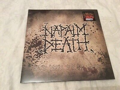 """Napalm Death """"Time waits For No Slave"""" 2011 numbered 200 only LP. Sealed."""