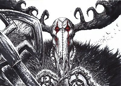 Slaine Lord Of Misrule Hand Drawn Original Art By Clint Langley 2000Ad.