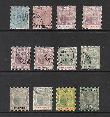 Mauritius Selected Queen Victoria & King Edward Vii Stamps To One Rupee (12)