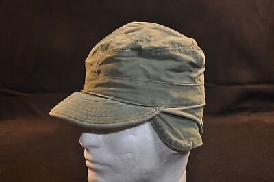 Korean War US Army Cap Field Cotton OD w/ Visor 1951 MASH Size 7 Great Cond #1