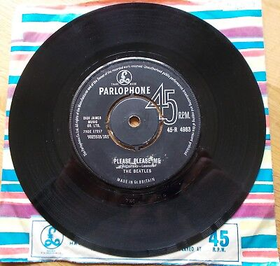 Please Please Me-Beatles-Very Early Black/silver Label- In/in Matrix-Classic!!!!