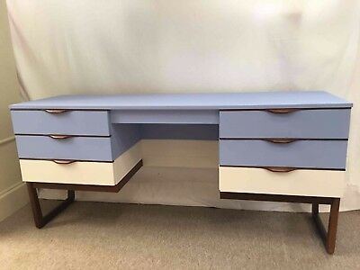 Vintage MCM retro desk /dressing table by Europa; customised. Mid Century Modern