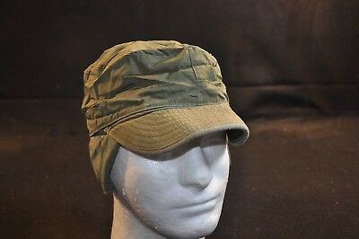 Korean War US Army Cap Field Cotton OD w/ Visor M1951 MASH Size 7 1/4 Great #7