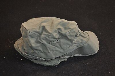 Korean War US Army Cap Field Cotton OD w/ Visor M1951 MASH Size 6 3/4 Good #15