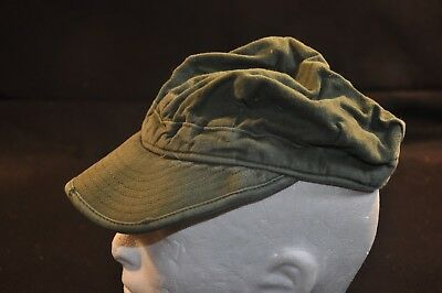 Korean War US Army Cap Field Cotton OD MASH Size 6 3/4 Good #16 getting tough