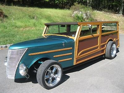 1937 Replica/Kit Makes Ford Woody Wagon TREET ROD WOODIE WOODY SURF WAGON HOT RAT ROD FORD GRILL WOOD SIDES BEACH BOYS