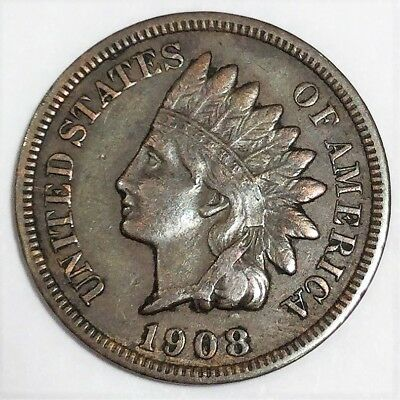 1908-S Indian Head Penny Beautiful High Grade Coin Rare Date Full Liberty