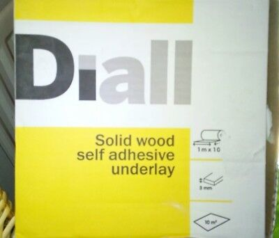 10m2 B&Q Diall 3mm ACOUSTIC SELF ADHESIVE UNDERLAY FOR WOOD FLOORING (have 3)