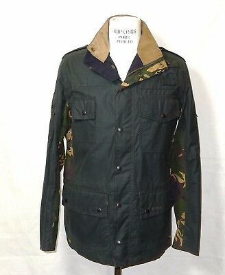 Barbour Sage Cowen Commando Waxed  Jacket  Nwt Size Large *