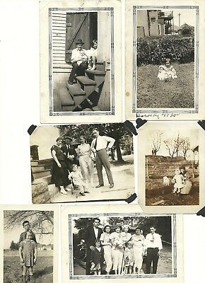 "Vintage 1900's-1930's Photograph Lot of 19 ""Classic Family & Kids"""